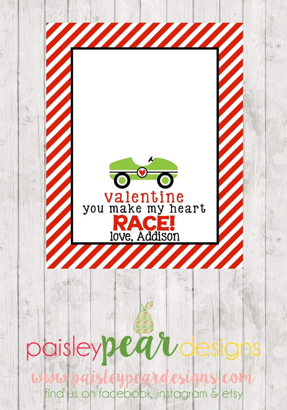 Heart Race - Valentine Tags