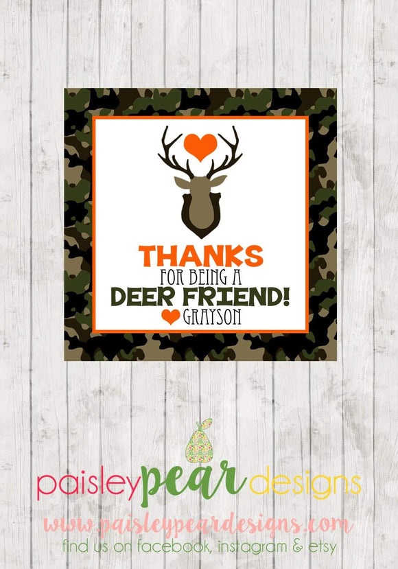 Deer Valentine Tags