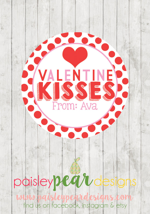 Valentine Kisses - Valentine Tags