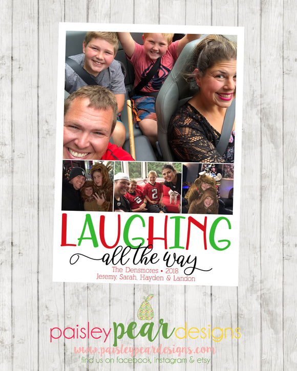 Laughing all the way - Christmas Photo Card