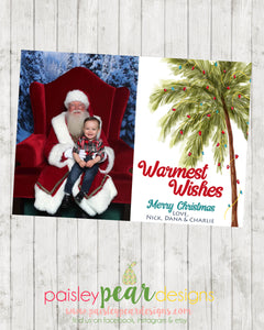 Warmest Palm - Christmas Photo Card