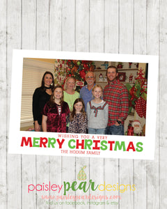 Very Merry Christmas - Christmas Photo Card