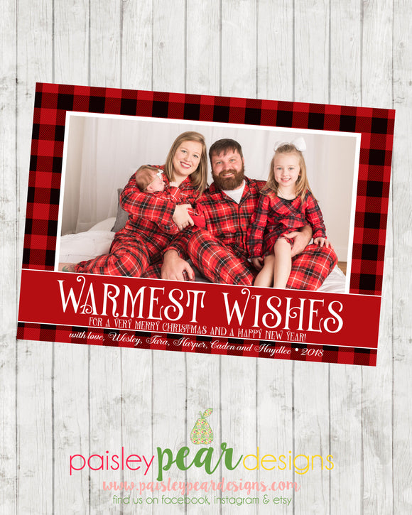 Warmest Wishes - Christmas Photo Card