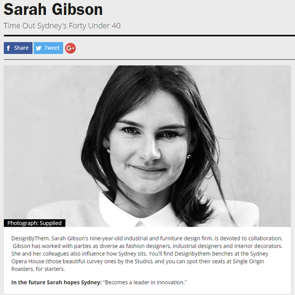 Sarah Gibson | Time Out Sydney
