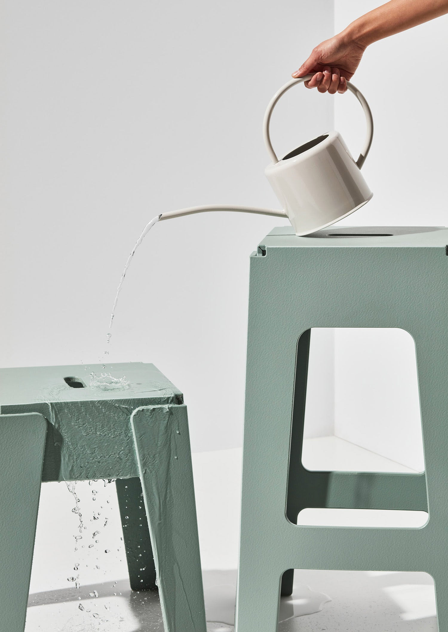 Sage Butter Stool and Bar Stool   Recycled Plastic Furniture   Indoor Outdoor Waterproof   Gibson Karlo   DesignByThem
