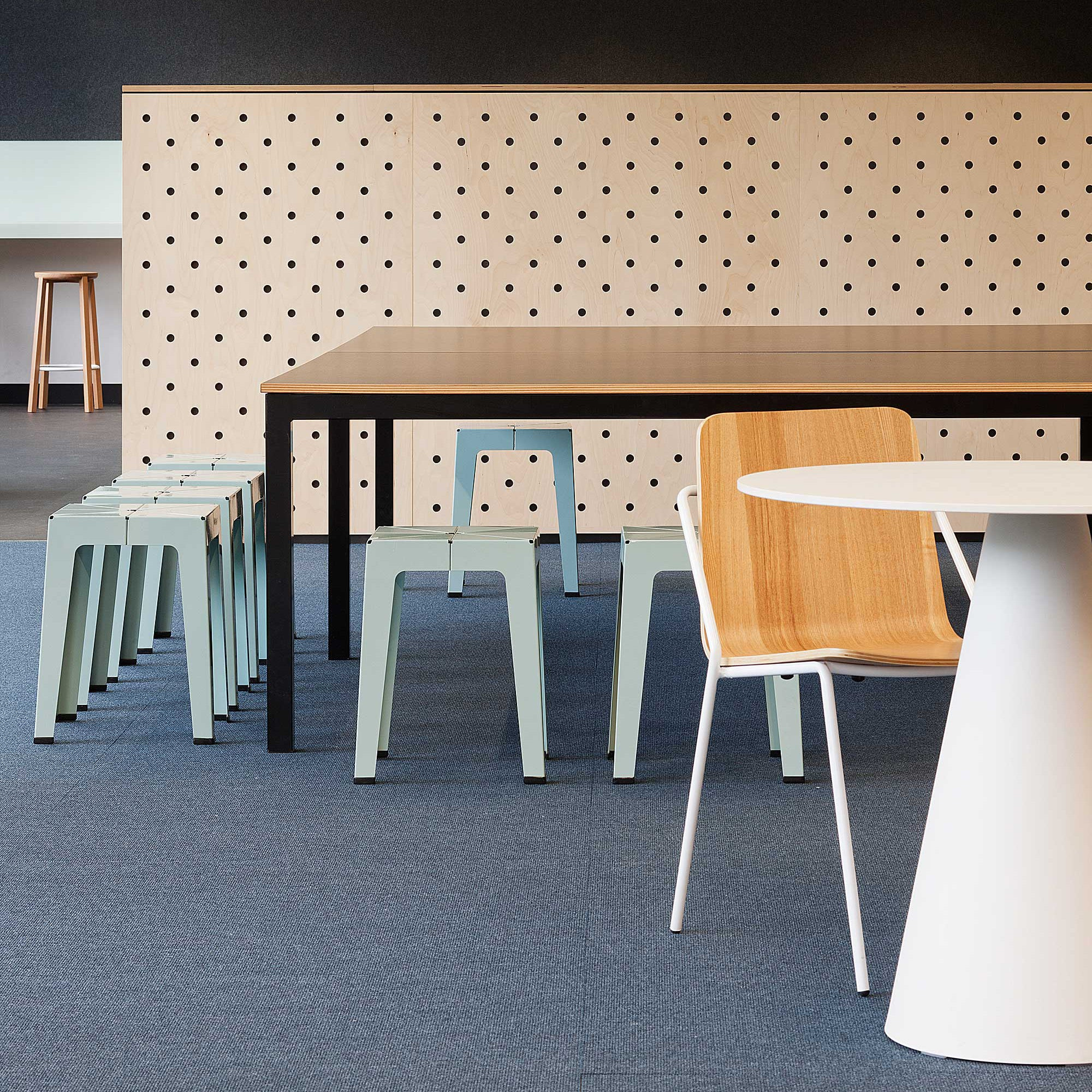 Monash University | Tuck Stool| Powder Coated Metal | JCBA | Shannon Mcgrath Photograhy