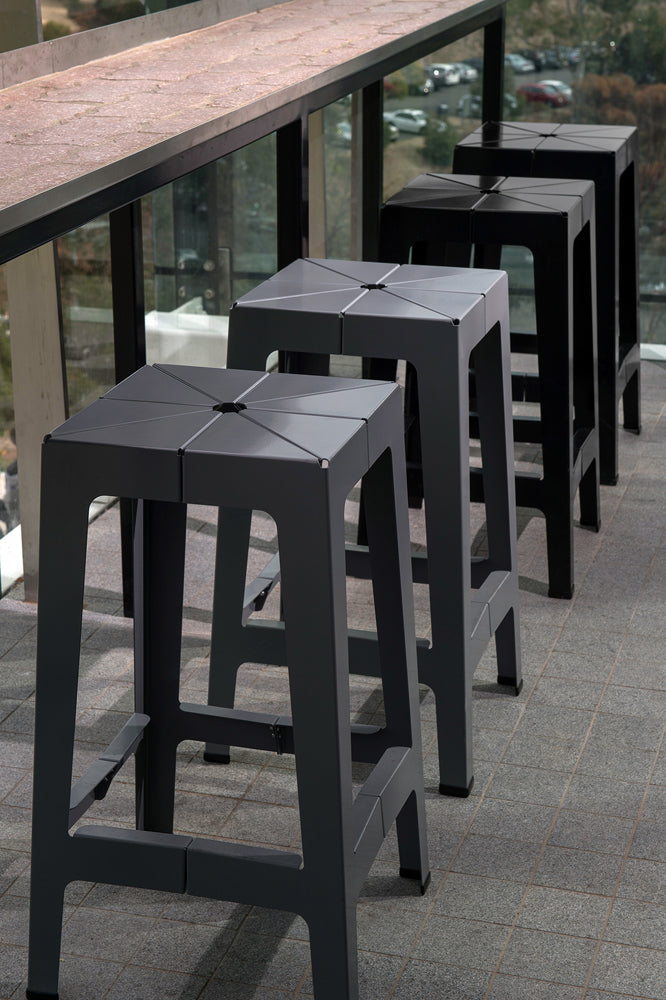 Tuck Bar Counter Stool | Powder Coated Steel | Flinders University | 1000 Chairs | James Grose Photography