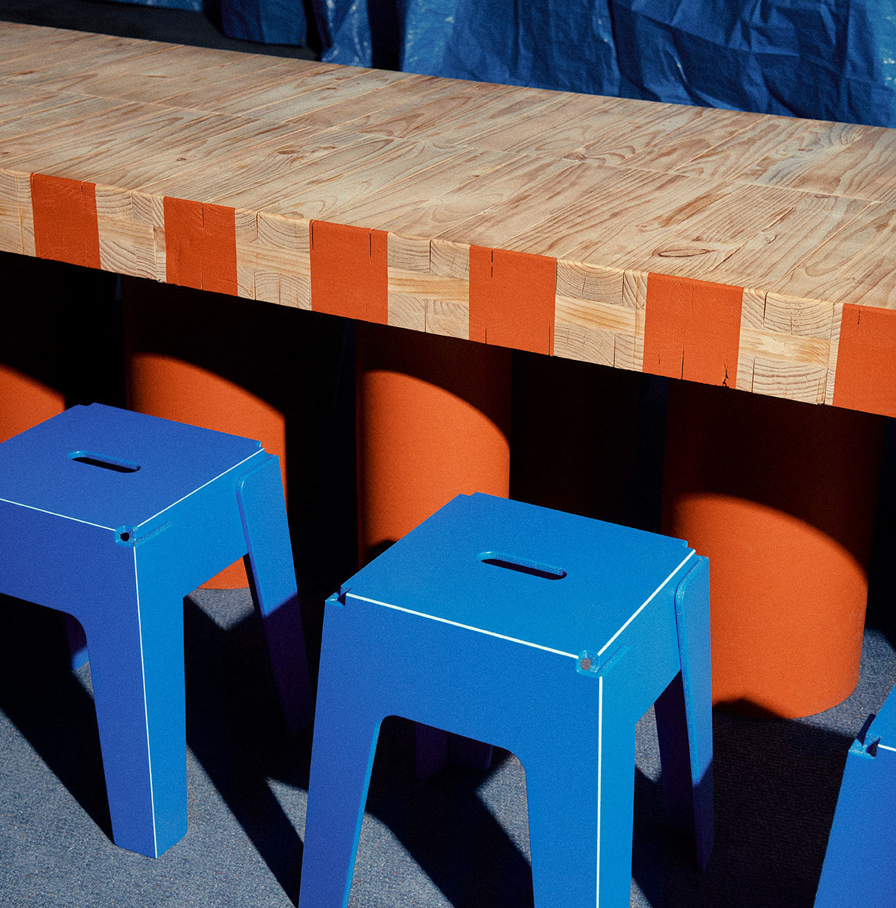 Butter Stools - Recycled Plastic | A New Normal by Kennedy Nolan | Melbourne Design Week | DesignByThem