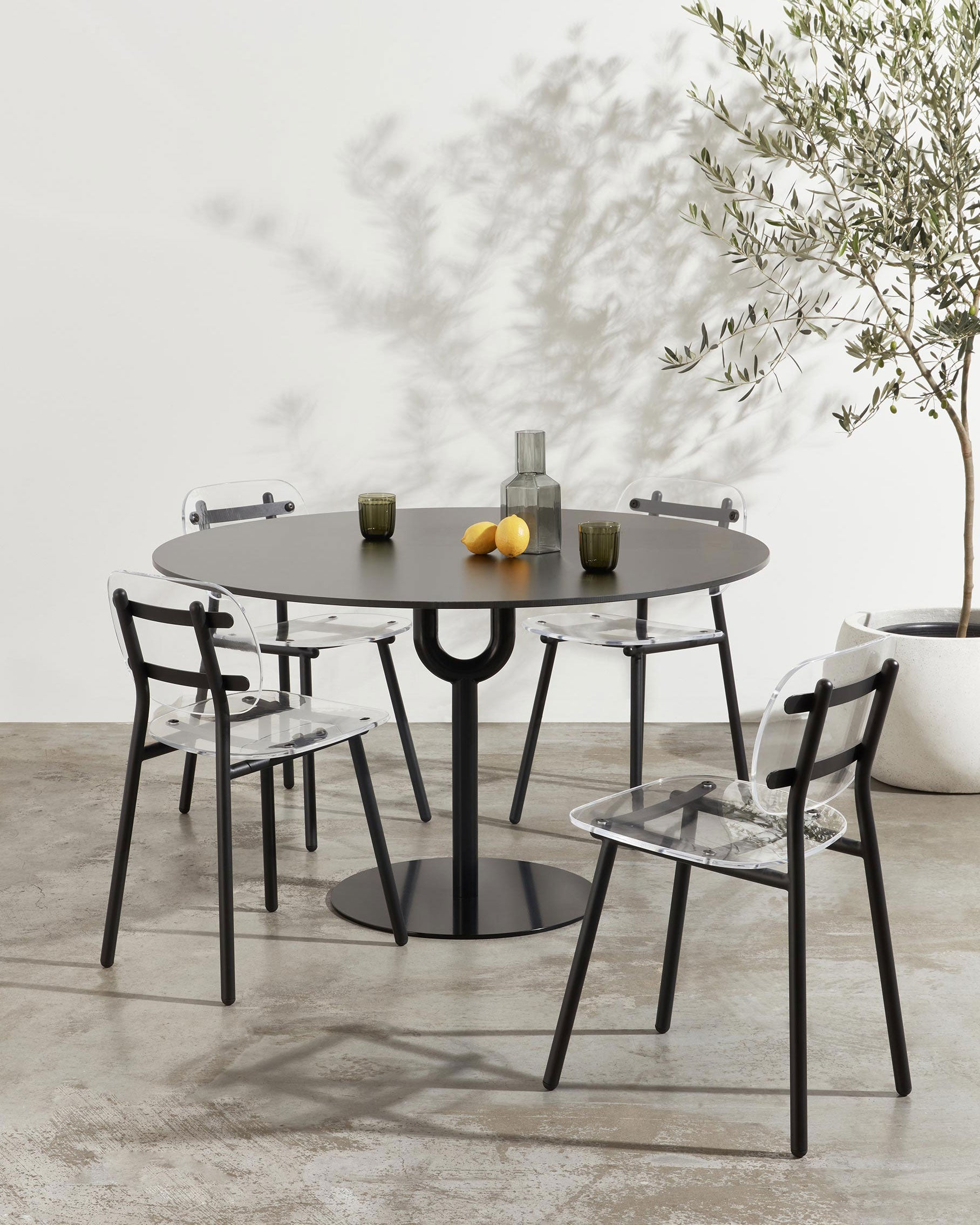 Piper Pedestal Table | Indoor Outdoor Steel Dining Table | GibsonKarlo | DesignByThem