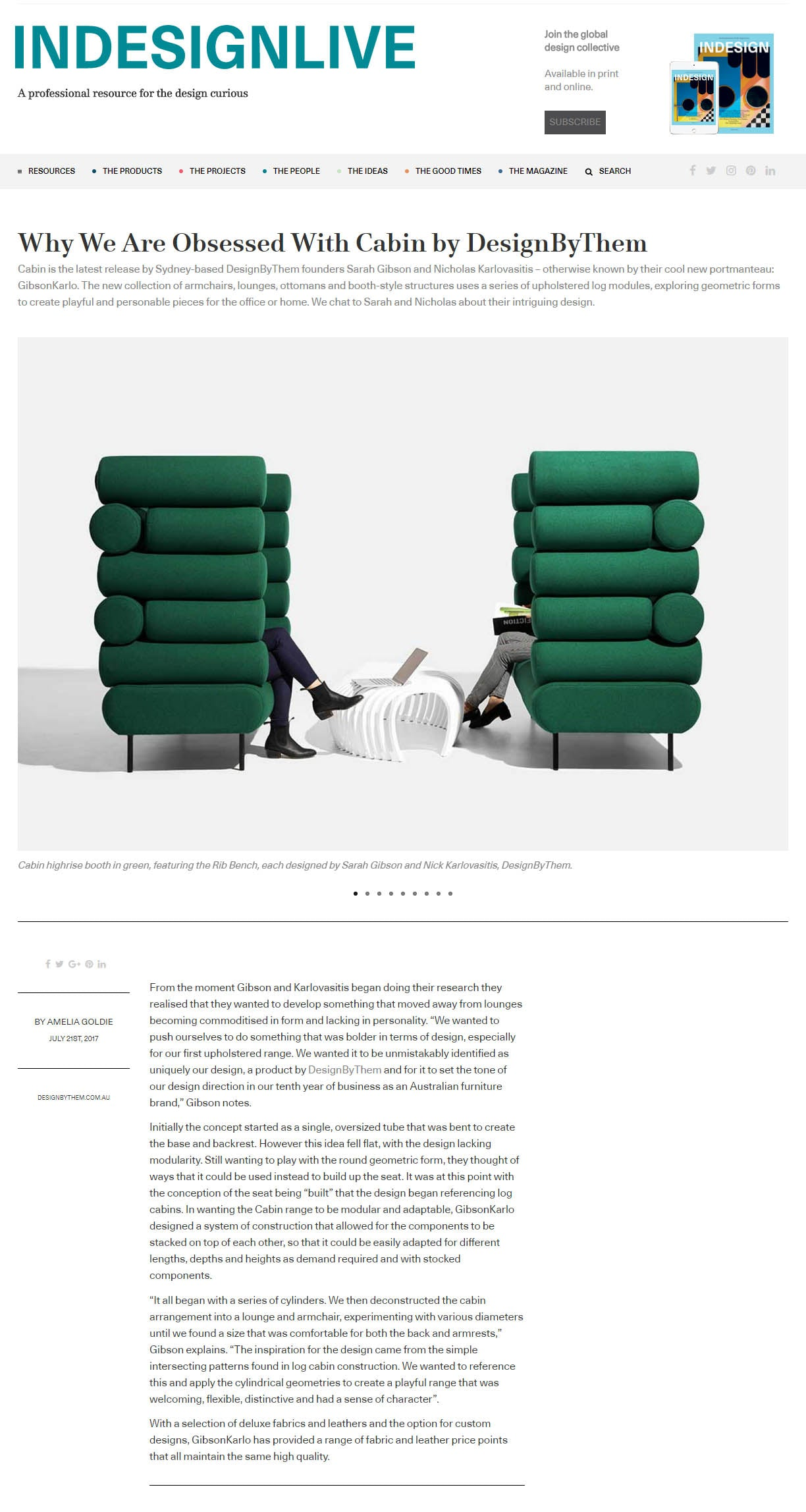 Indesign Live | Cabin Lounges by GibsonKarlo | DesignByThem