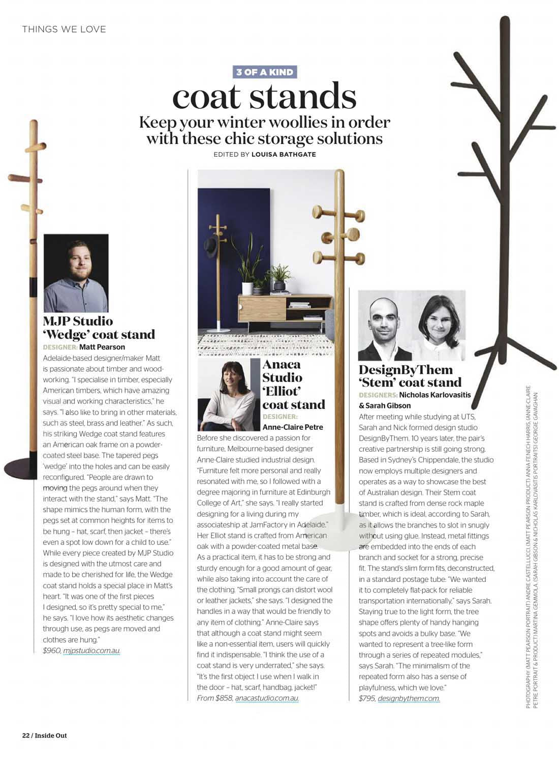 Inside Out Magazine | Stem Coat Stand