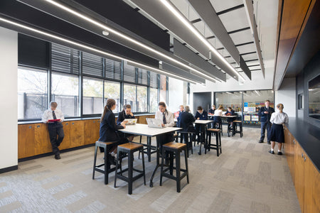 Timber Tuck Bar Stool at Mentone Grammar by Hayball | DesignByThem | Gallery