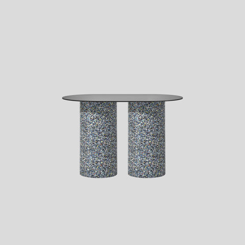 Confetti Pill Bar Table | 100% recycled plastic base | Timber & Laminate Tops | Indoor Outdoor Use | Gibson Karlo | DesignByThem