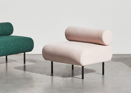 Cabin Seat by Gibson Karlo | DesignByThem | Fabric & Leather Upholstered Lounge | Gallery