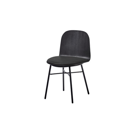 Potato Chair - Black Stained Oak + Seat Pad - Tube Non Stack Base