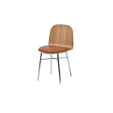 Potato Chair - Oak + Seat Pad - Tube Non Stack Base