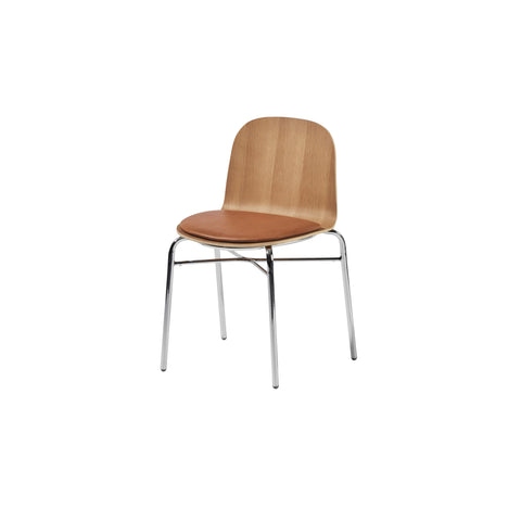 Potato Chair | Stacking Timber & Upholstered Dining Office Chair with Handle | GibsonKarlo | DesignByThem