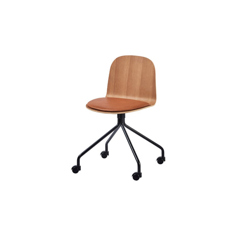 Potato Chair - Oak + Seat Pad - Swivel with Castors