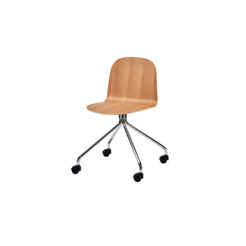 Potato Chair - Oak - Swivel with Castors