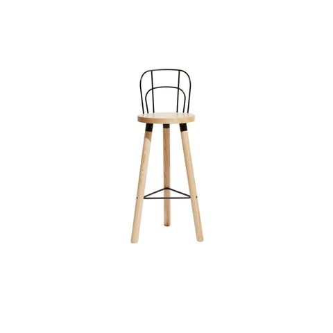 Partridge Bar Stool with Backrest | Bar Stools | Nicholas Karlovasitis & Sarah Gibson | DesignByThem