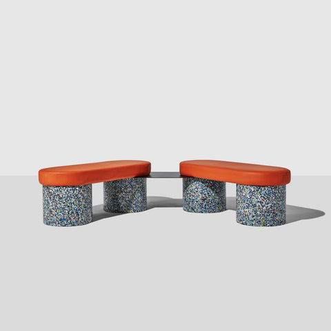 Confetti Bench | 100% Recycled Plastic Indoor/Outdoor Furniture | DesignByThem | GibsonKarlo