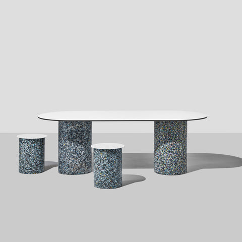 Confetti Dining Table | 100% Recycled Plastic Indoor/Outdoor Furniture | DesignByThem | GibsonKarlo