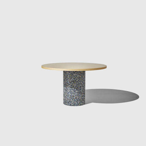 Confetti Round Dining Table | 100% Recycled Plastic Indoor/Outdoor Furniture Pedestal Base | DesignByThem | GibsonKarlo