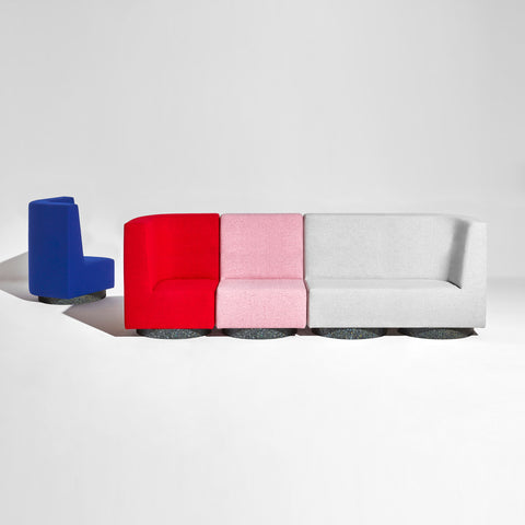 Confetti Modular Lounge - Low-Back - Recycled Base