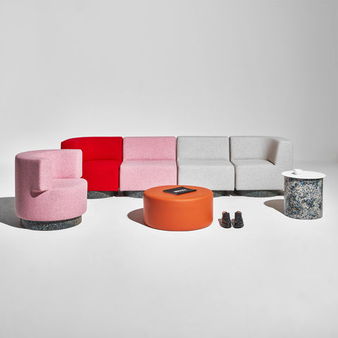 Confetti Modular Lounge - High-Back - Upholstered Base
