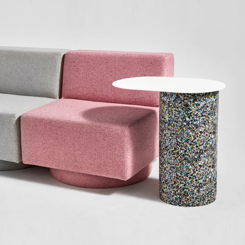 Confetti Cantilever Side Table | 100% recycled plastic & metal | GibsonKarlo | DesignByThem