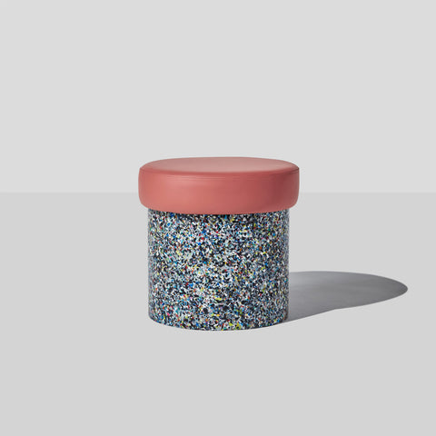 Confetti Ottoman | 100% Recycled Plastic Indoor/Outdoor Furniture | DesignByThem | GibsonKarlo
