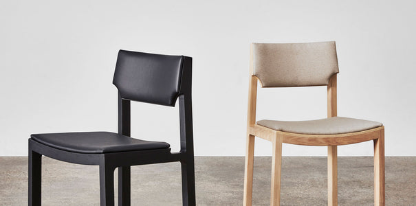 Cub Chair by Jon Goulder | Sled Dining Chair Leather or Fabric Upholstery | DesignByThem | Gallery