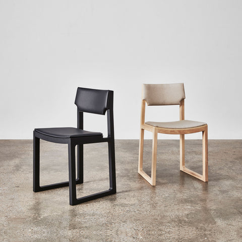 Cub Chair by Jon Goulder | Sled Dining Chair Leather or Fabric Upholstery | DesignByThem