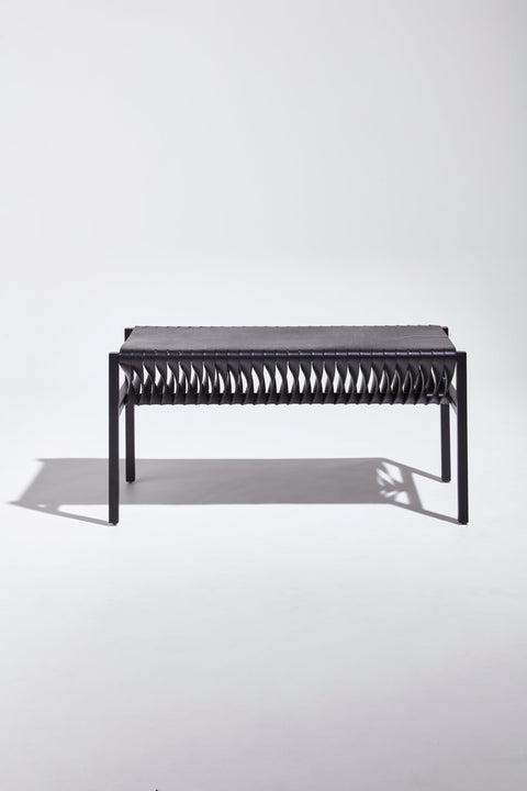 DL Bench by Dion Lee, Sarah Gibson & Nicholas Karlovasitis | Saddle Leather & Metal | DesignByThem