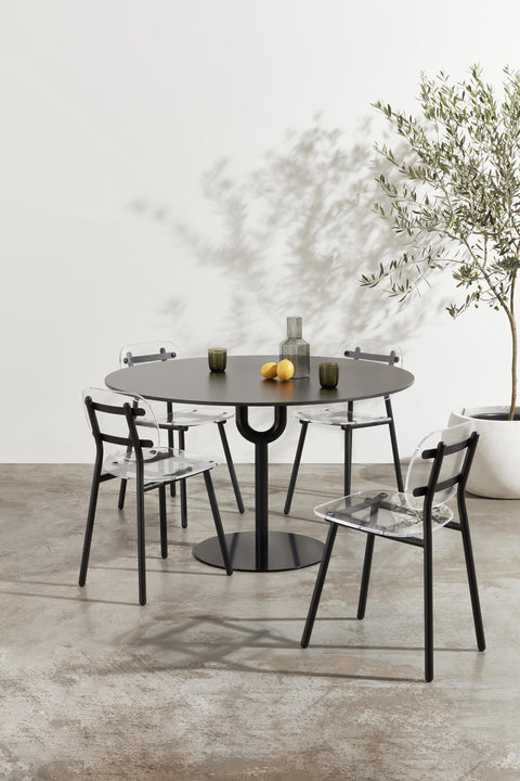 Piper Round Pedestal Table | Indoor Outdoor Steel Dining Table | GibsonKarlo | DesignByThem
