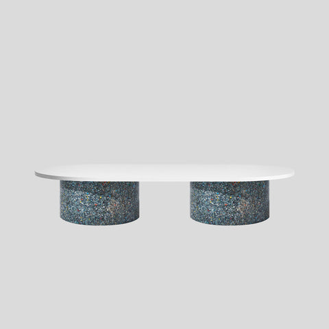 Confetti Pill Coffee Table | 100% recycled plastic base | Timber & Laminate Tops | Indoor Outdoor Use | Gibson Karlo | DesignByThem