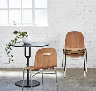 Potato Chair | Timber & Upholstered Dining Office Chair with Handle | GibsonKarlo | DesignByThem | Gallery