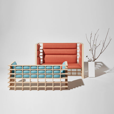 Mochi Booth and Lounge by Elliot Bastianon for DesignByThem  | Acoustic Timber Upholstered Lounge | Australian Made