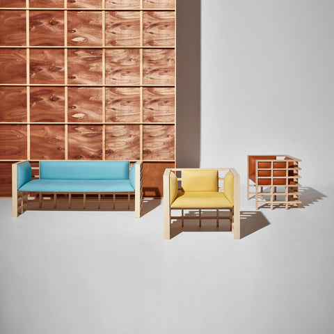 Mochi Lounge and Armchairs by Elliot Bastianon for DesignByThem | Timber Upholstered Lounge | Australian Made