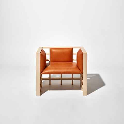 Mochi Leather Armchair by Elliot Bastianon for DesignByThem | Timber Upholstered Lounge | Australian Made