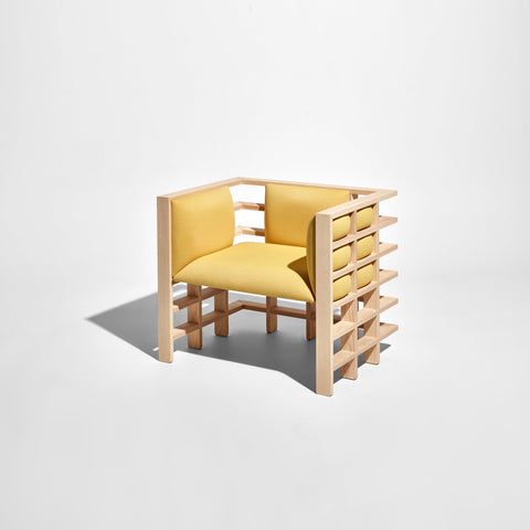 Mochi Armchair by Elliot Bastianon for DesignByThem | Timber Upholstered Lounge | Australian Made