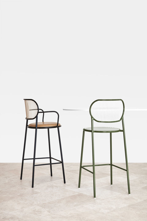 Piper Bar Stool with Armrests | Bar Stools | Nicholas Karlovasitis & Sarah Gibson | DesignByThem
