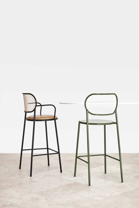 Piper Bar Counter Chair Upholstered | Fabric or Leather Seat | Designed by GibsonKarlo | DesignByThem
