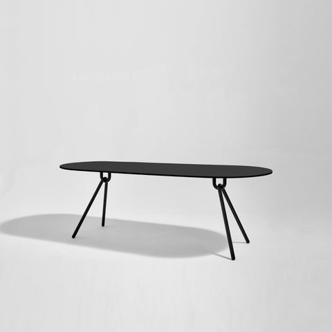 Piper Dining Table - Ellipse | Indoor Outdoor Compact Laminate & Stainless Steel | GibsonKarlo | DesignByThem