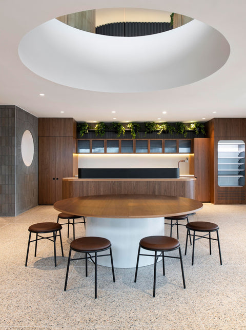 Piper Low Stool Upholstered at Norton Rose Fullbright Melbourne by Carr Design | DesignByThem