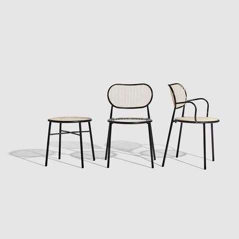Piper Low Stool and Chairs | Stackable Outdoor | Designed by GibsonKarlo | DesignByThem