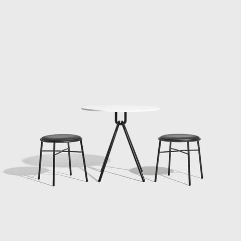 Piper Low Stool | Stackable Leather Upholstered | Designed by GibsonKarlo | DesignByThem