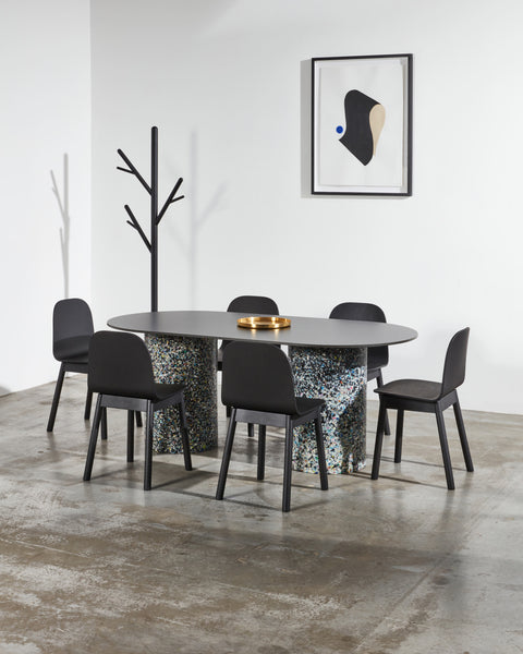 Potato Chair | Black Stained Timber Dining Office Chair with Handle | GibsonKarlo | DesignByThem
