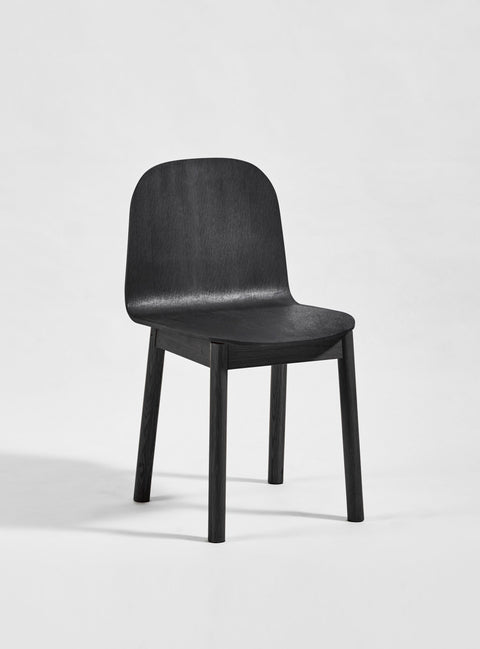 Potato Chair - Black Stained Oak - Timber Base