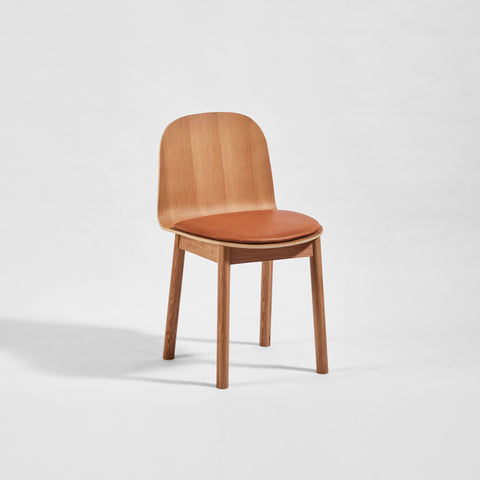 Potato Chair - Oak + Seat Pad - Timber Base